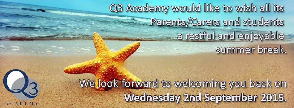 Academy Returns on Wednesday 2nd September 2015.