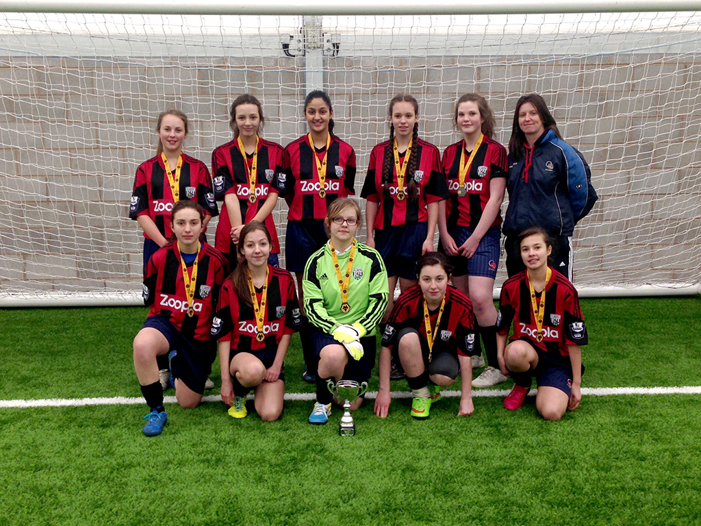 Winning Girls Football Team